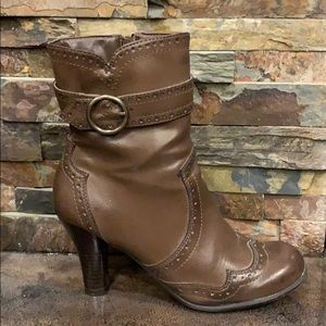 Brown Heeled Bootie